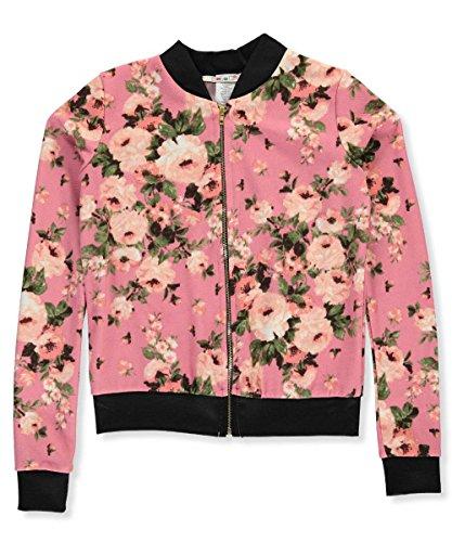 """Price comparison product image Boho Girlz Baby Girls' """"Flower Power"""" Flight Jacket - blush, 14-16"""