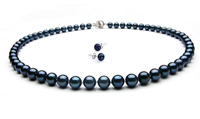 TreasureBay Stunning 7mm Freshwater Pearl Necklace 44cm/17.2