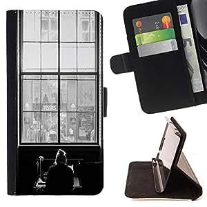Dragon Case - FOR Samsung Galaxy S6 EDGE - ?I miss you - Caja de la carpeta del caso en folio de cuero del tirš®n de la cubierta protectora Shell