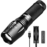 Elekin T01 Flashlight 1000 Lumens LED light Waterproof,5 Modes Perfect For Camping, Hiking,Hunting,Cycling,Powered by 18650 battery Not Included