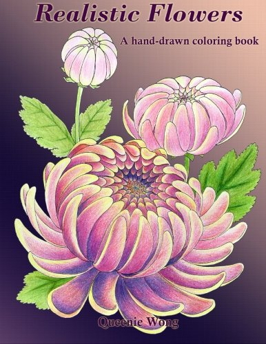 - Realistic Flowers - A hand-drawn coloring book
