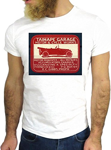 T SHIRT JODE Z2354 VINTAGE GARAGE CAR ROCK RACE USA AMERICA FUN COOL LOGO GGG24 BIANCA - WHITE S