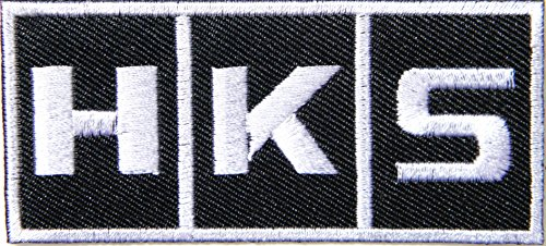 HKS Turbo Blow Off Valve BOV Logo Automotive Performance MotoGP Motorcycles Car Racing Motorsport Biker Racing Patch Iron on Applique Embroidered T Shirt Jacket Costume Accessories Craft