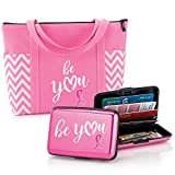 Breast Cancer Awareness:''Be You'' Gift Set- Includes Tote Bag And Aluminum Wallet