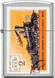 Zippo USSR CCCP 1979 2k Soviet Russian Postage Stamp Orange Train Satin Chrome