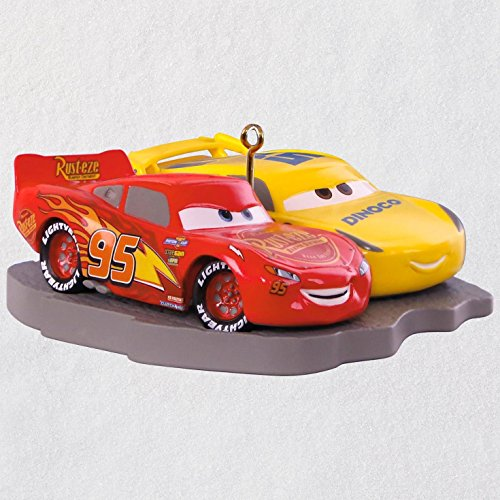 Hallmark Keepsake Christmas Ornament 2018 Year Dated, Disney/Pixar Cars 3 Lightning McQueen and Cruz Ramirez ()