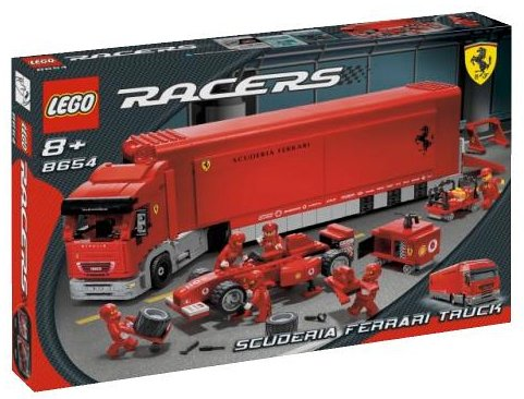 LEGO Scuderia Ferrari Truck - Parts Scuderia