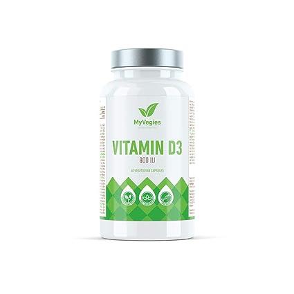 Vitamina D3 2000 UI 60 cápsulas vegetarianas
