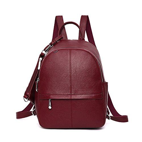 à Sac Red Fashion Simple Sac Dos Sacs Vent Main à College DHFUD étudiant Tq5OP7n