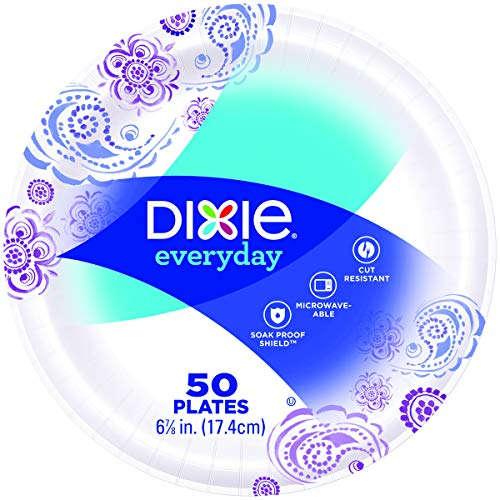 - Dixie 15123 Heavy Duty Paper Plates (6.875 inch 50 Count)
