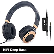 Active Noise Cancelling Headphones with Microphone and Airplane Adapter, Alteng J19 Folding and Lightweight Travel Headsets, Hi-Fi Deep Bass Wired Headphones With Carrying Case - Black
