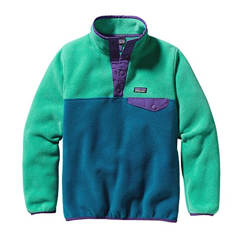 Patagonia Girl's LIGHTWEIGHT SYNCHILLA SNAP-T PULLOVER UNDERWATER BLUE Medium by Patagonia