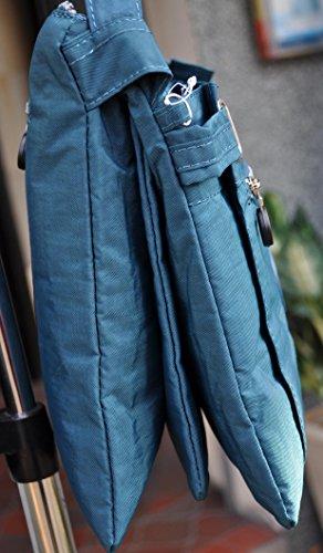 Damen Handtasche Schultertasche Umhängetasche Petrol 2226