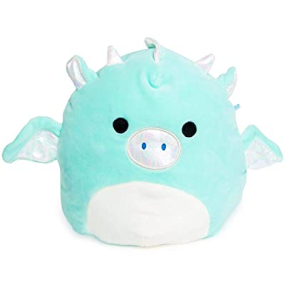 2Charms Kids Toddlers Babies (1) 8 in Miles The Dragon Blue Green Squishmallow (Bonus 2Charms (1) Squishy Toy) Super Soft Stuffed Pillow Bundle of ~2: Home & Kitchen
