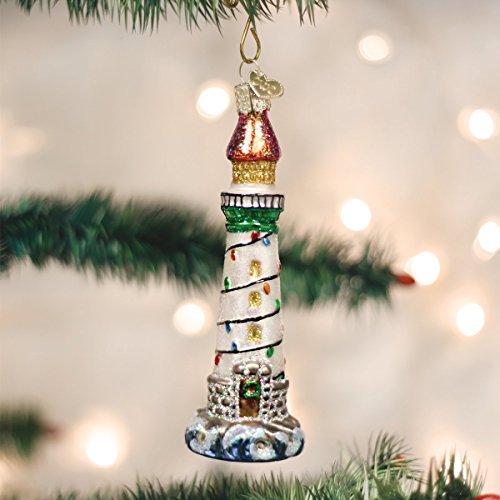 old world christmas holiday lighthouse - Christmas Lighthouse Decorations
