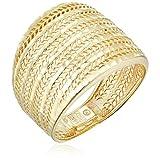 14k Yellow Gold Diamond Cut Mesh Band Ring, Size 8