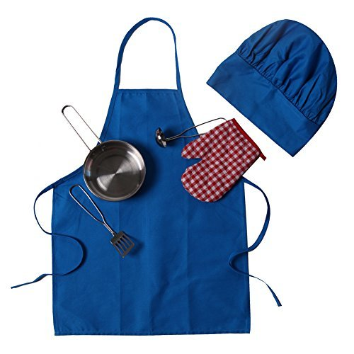 Wooden Spoon Costumes - Kids Red Chef Cooking Gift -