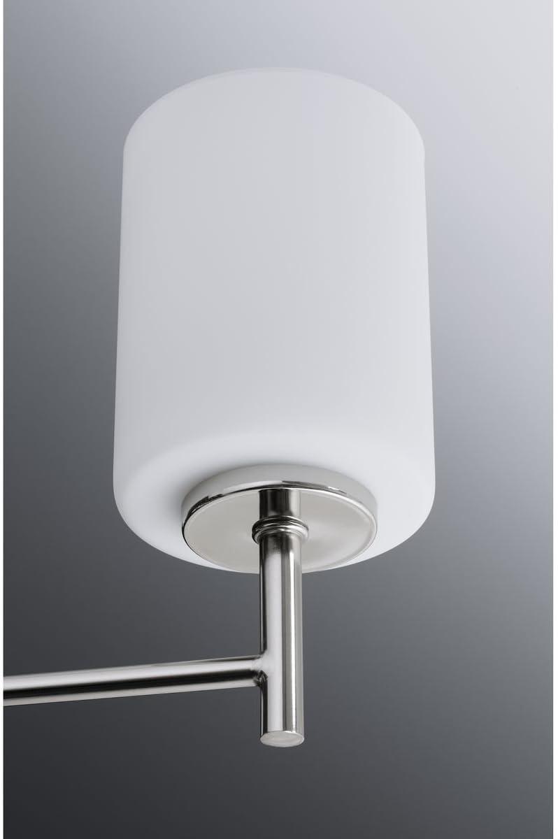 1-Light Brushed Nickel Bath Sconce Progress Lighting  Replay 5.1 in