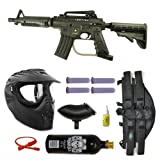 US Army Alpha Black Tactical Paintball Marker Gun 3Skull 4+1 X-Ray Mega Set