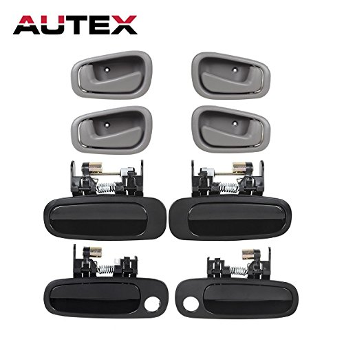 Interior Door Handles Front Rear Left Right Driver Passenger Side Compatible with 1998 1999 2000 2001 2002 Toyota Corolla Chevrolet Prizm 77563 77567 77426 77431 79503 79502 ()