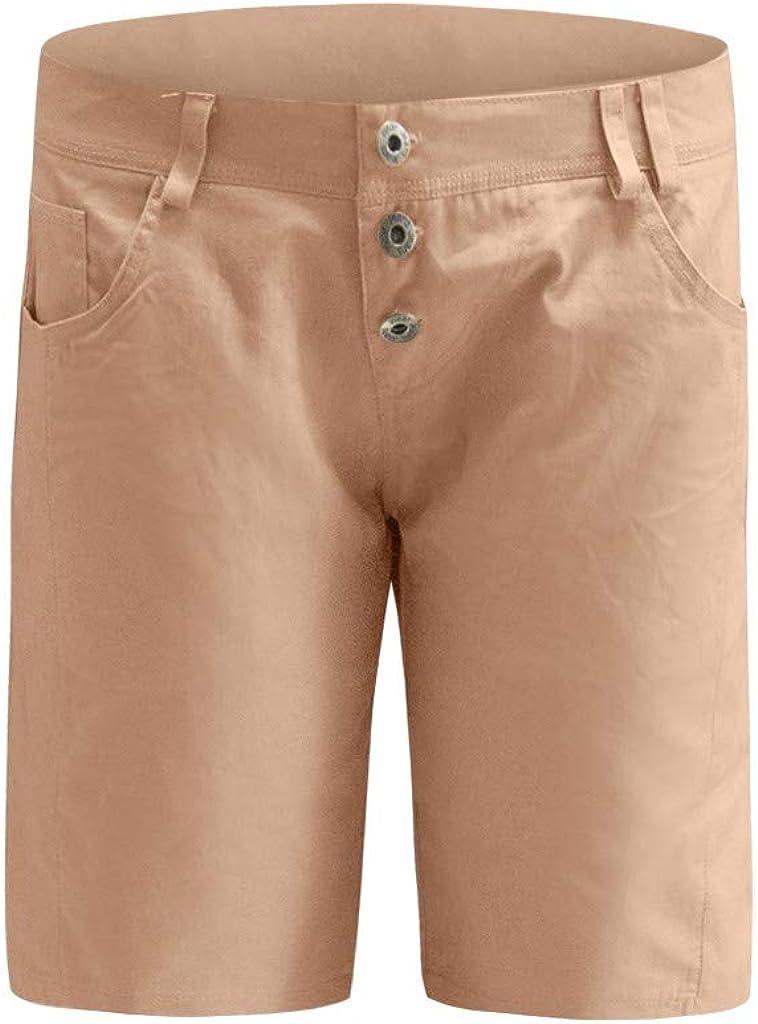 LMMET Pantaloncini Donna Estivi Pantaloncini Donna Jeans Vita Alta Bermuda Donna Estive Pantaloncini Donna Taglie Forti Grigio Bianco Rosa Taglie S-5XL