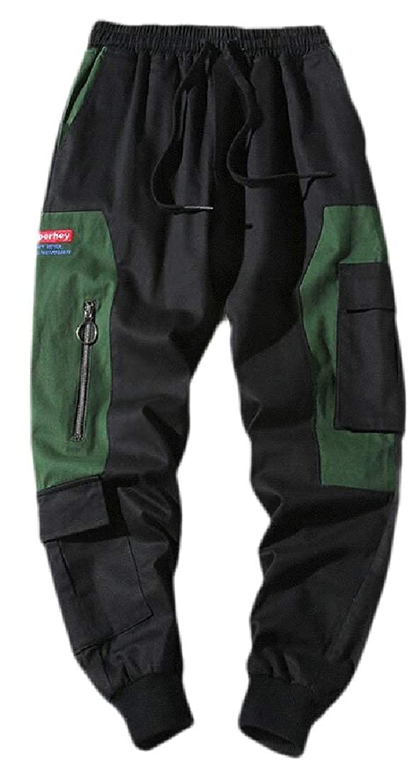 Alion Mens Multi-Pockets Cargo Pants Cotton Relaxed Fit Outdoor Cargo Pants