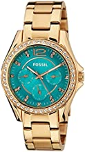 Fossil Women's ES3385 Riley Multifunction Rose Gold-Tone Stainless Steel Watch