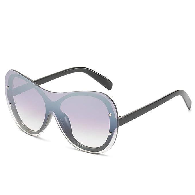 Yangjing-hl Gafas de Sol siamesas Moda para Mujer Street ...