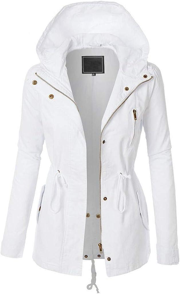 Eaktool Womens Casual Long Hoodies Sweatshirt Coat Pockets Zip up Outerwear Hooded Jacket Plus Size Tops