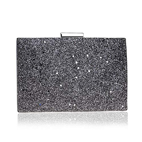 - Sequin evening bag,Ladies Sparkly Fashion Multi-color Clutch handbag For Wedding Cocktail party Gift-black 19x13x5cm(7x5x2inch)