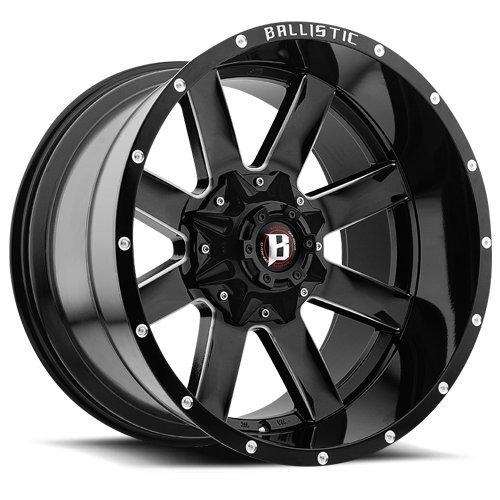 Ballistic 959 Rage 20×10 6×135/6×139.7 -19mm Black/Milled Wheel Rim