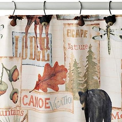 Amazon.com: Bacova Vintage Lodge Shower Curtain: Home & Kitchen