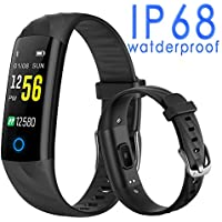Uhoofit IP68 Waterproof Activity Fitness Tracker with Heart Rate Monitor