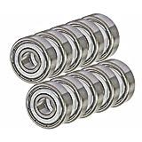 10 Shielded Bearing R6ZZ 3/8 x 7/8 x 9/32 inch Miniature Ball