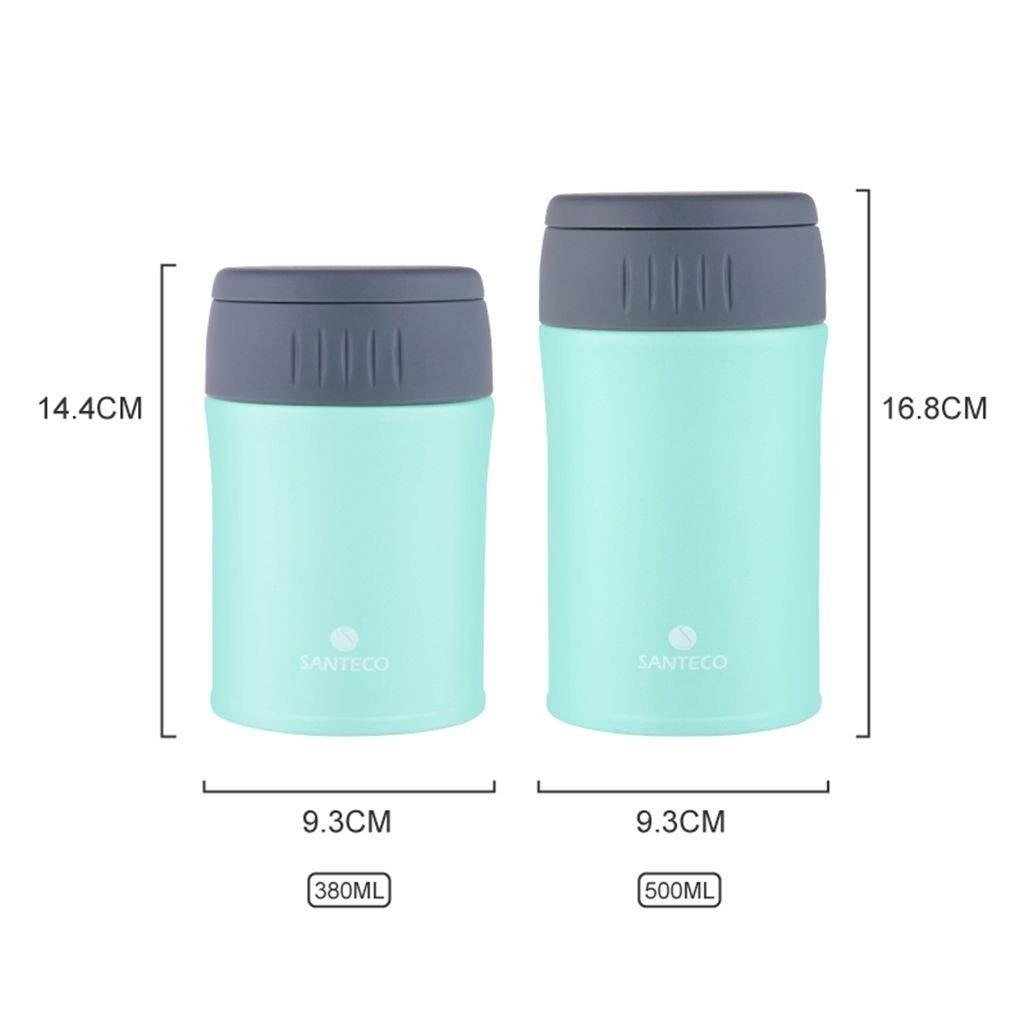 HTISRJBO thermobecher Thermos für Lebensmittel BPA-frei 6 Stunden Heiße 6 Stunden Kalte Bunte Lebensmittelbehälter