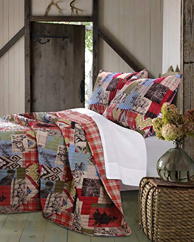 - Greenland Home 2 Piece Rustic Lodge Quilt Set, Twin