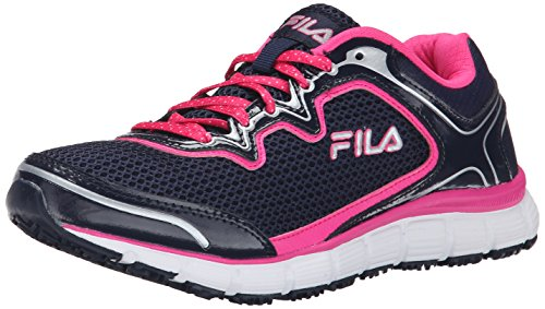 Fila Women's Memory Fresh Start Slip Resistant Work Shoe Fila Navy/Pink Glo/White
