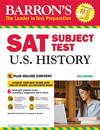 Barron's SAT Subject Test U.S. History, 4th Edition: with Bonus Online Tests cover