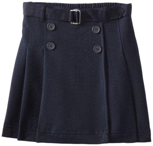 Nautica Little Girls'  Uniform Belted 4 Button Wrap Scooter, Navy,4