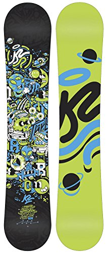 K2 Youth MINI TURBO SNOWBOARD BOARD - 2015 (130cm) K2 Twin Tip Snowboard