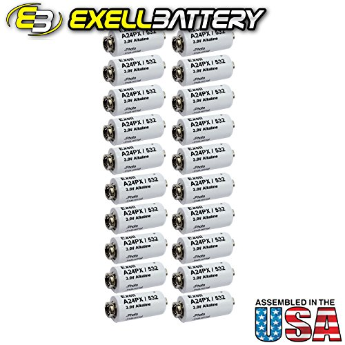 20pc Exell A24PX 3V Alkaline Battery V24PX RPX24 532 PX24 EPX24 2LR50 by Exell Battery