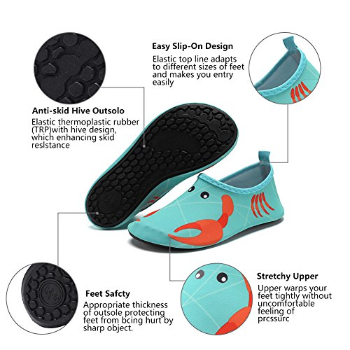 CIOR Men Women and Kids Quick-Dry Water Shoes Lightweight Aqua Socks For Beach Pool Surf Yoga Exercise Crab 9Y4wlU