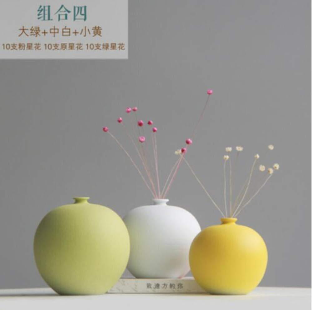 Möbel & Wohnaccessoires Vasen qnmbdgm Vase Tischblumenvase Der Keramischen Kleinen Vasen-Dekoration Wohnzimmerblumen-Anordnungsverzierung Handgemachter