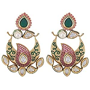 Aurora Women's Alloy Natural Pearl Earring
