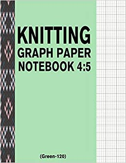 amazon knitting graph paper notebook 4 5 green 120 120 pages 4