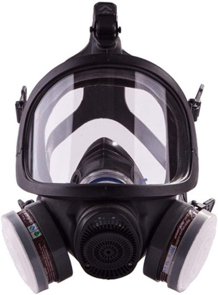 XIAOCUI Respiratoria Antipolvo, Fácil de Respirar, Reutilizable,para los Oídos, Gafas y 2 Filtro de Polvo, Lijado a Máquina, Formaldehído, Protección con Filtros
