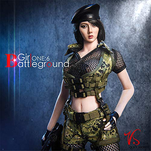 (HiPlay 1/6 Scale Female Figure Doll Clothes, Handmade Costume, Female Soldier Uniform for 12