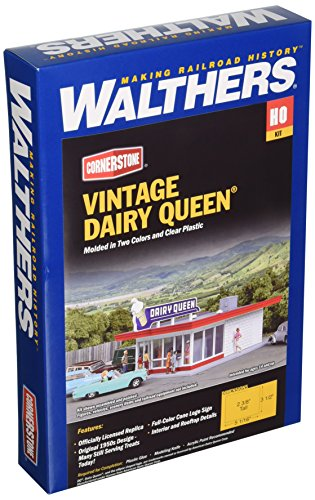 "Walthers, Inc. Vintage Dairy Queen Kit, 5-1/16 x 3-1/2 X 2-3/8"" 12.8 x 6cm"