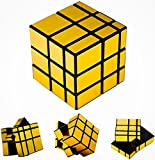 D ETERNAL Mirror Cube 3x3 Cube High Speed Gold Mirror Magic Cube 3x3 Mirror Cube Brainstorming Puzzle Game Toy