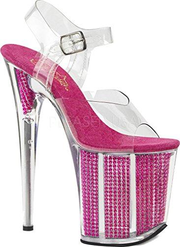 808srs Clr Flamingo Fuchsia Femme Plateforme Pleaser Sandales Srs 5PwXSxTdqn